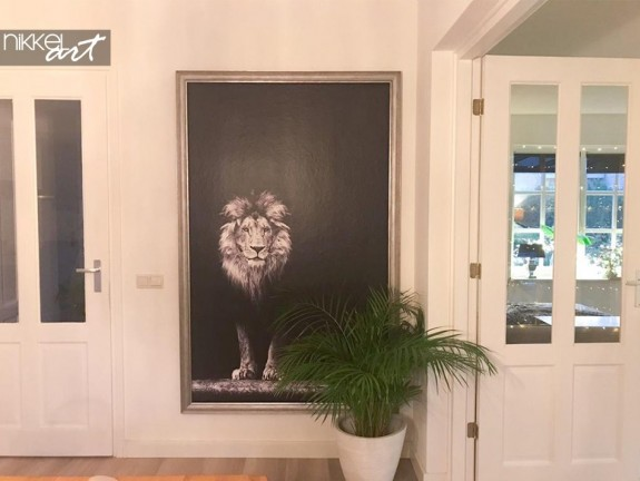 Wall Murals Lion Black and White