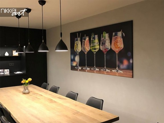 Customer Photo Dining Room with Photo on Canvas