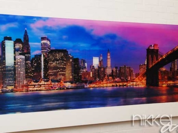 Photo on Acrylic Manhattan over the river early morning
