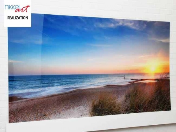 Photo on Acrylic Sea sunset
