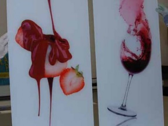 Photo on Acrylic red wine splash