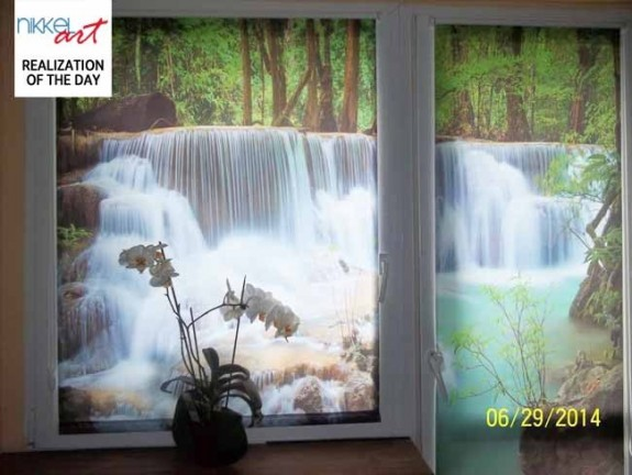 Photo roller blinds Waterfalls