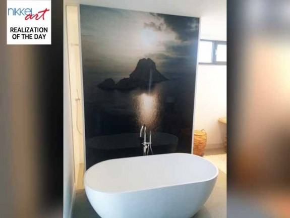 Printed Bathroom splashbacks
