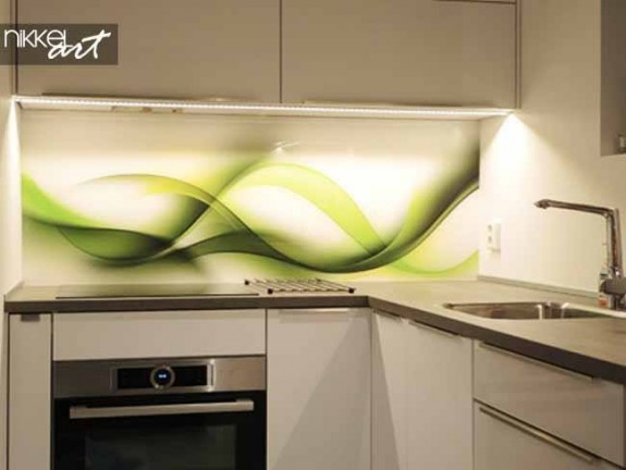 Printed kitchen splashbacks Abstract wave