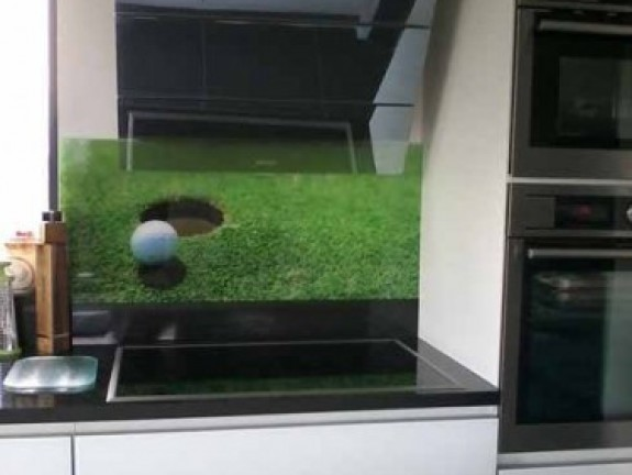 Printed kitchen splashbacks Golf
