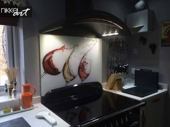 Photo Glass Splashback Wine