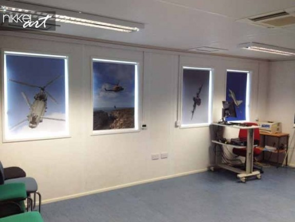 Printed roller blinds Helicopter