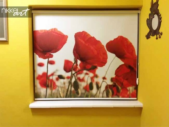 Printed roller blinds Poppy