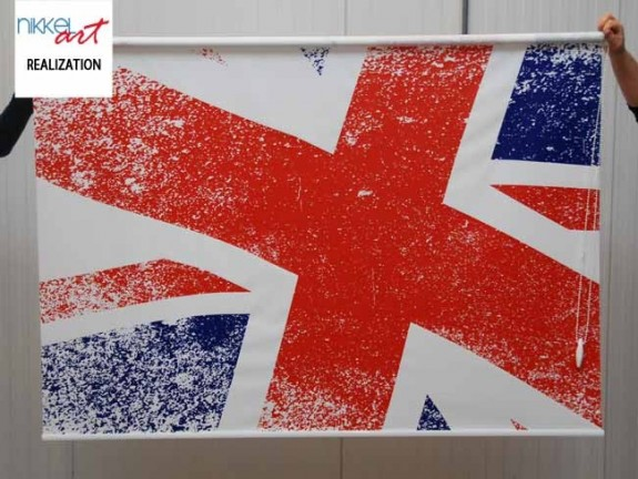 Printed roller blinds Union Jack flag