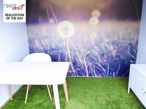 Wall Mural Dandelion in garden office