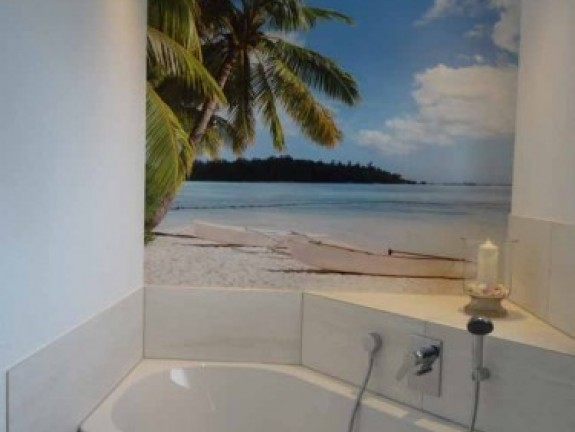 Wall Mural in bathroom