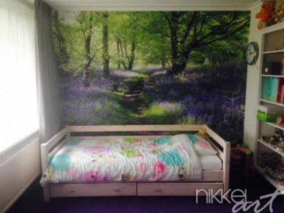 Wall Murals Blue bells forest