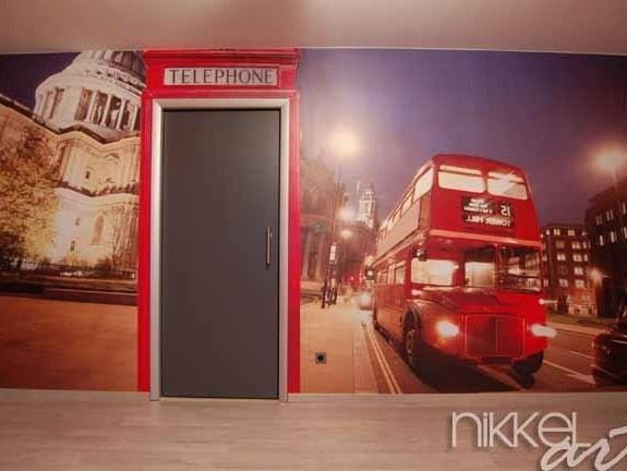 Wall Murals London red bus