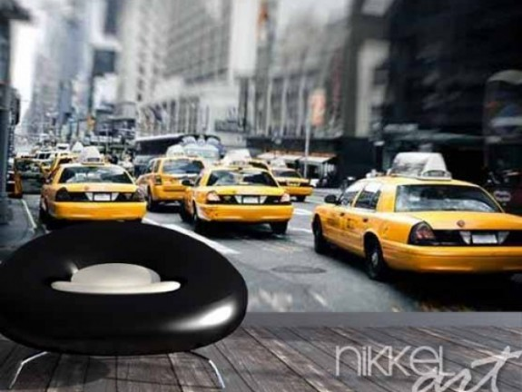 Wall Murals New York taxis