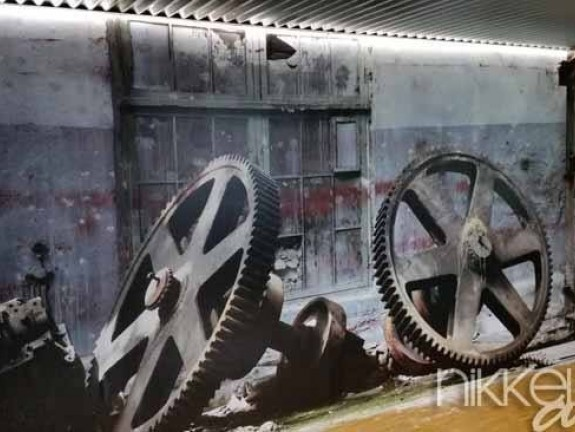 Wall Murals Rusty old metal gadgets