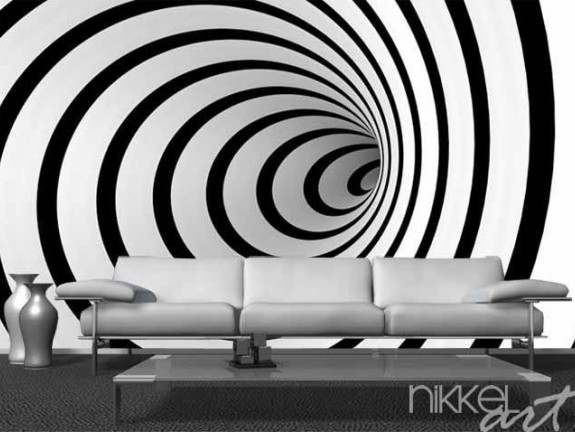 Wall Murals Warped spiral