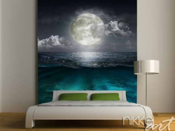 Wall Murals moon reflecting in a lake