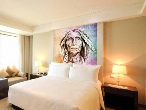 Wall Murals portrait of american indian
