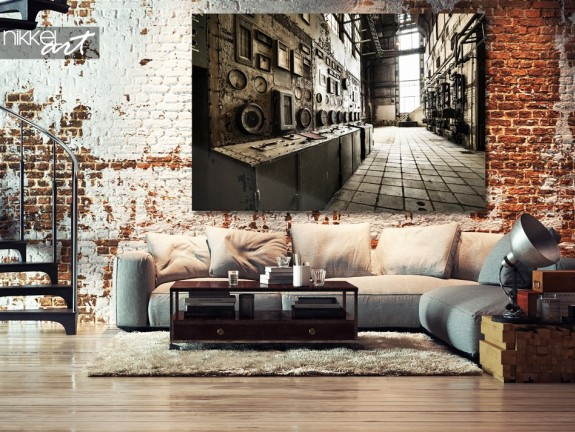 Acrylic Prints Old abandoned buildings