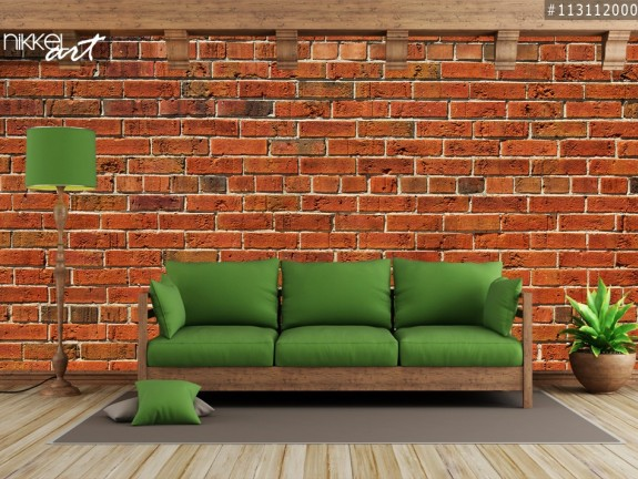 Wall Murals Red brick wall