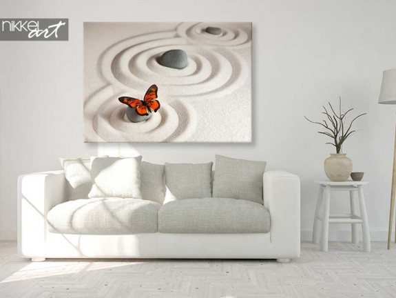 Canvas Prints Stones in Sand