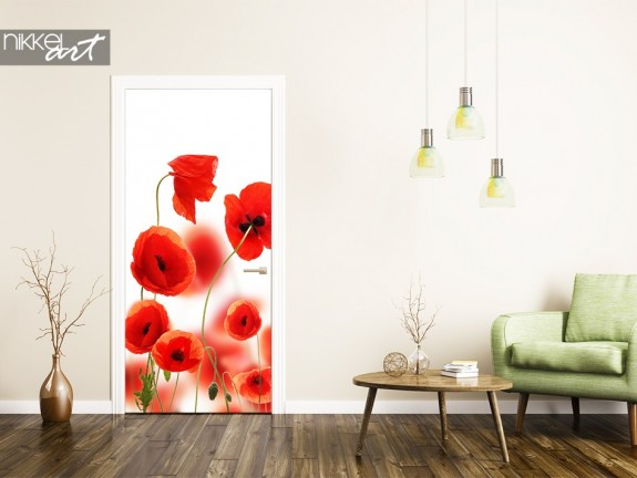 Door stickers Poppy