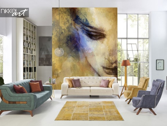 Wall murals Beautiful woman face