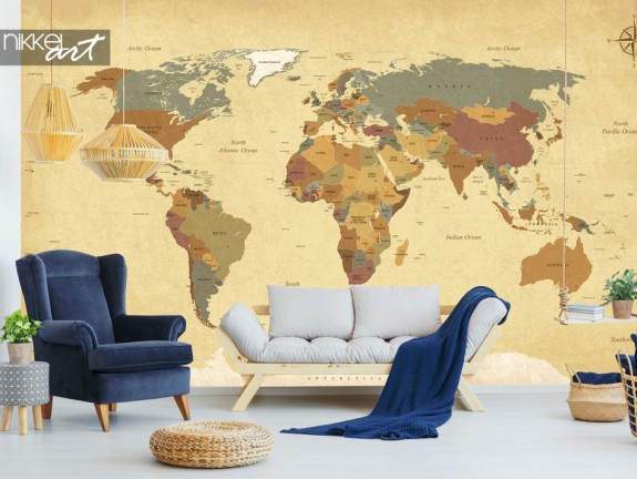 Wall murals Vintage World Map