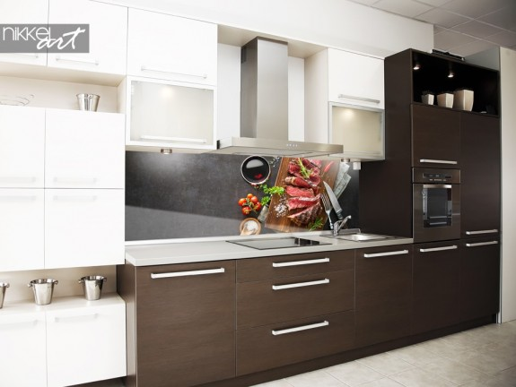 Kitchen Splashback with Photo Barbecue