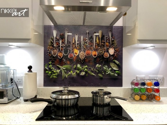 Customer Photo Printed Kitchen Splashbacks Spices