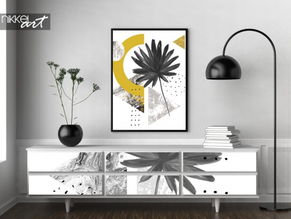 Furniture Sticker and Poster with Photo of Graphic Print