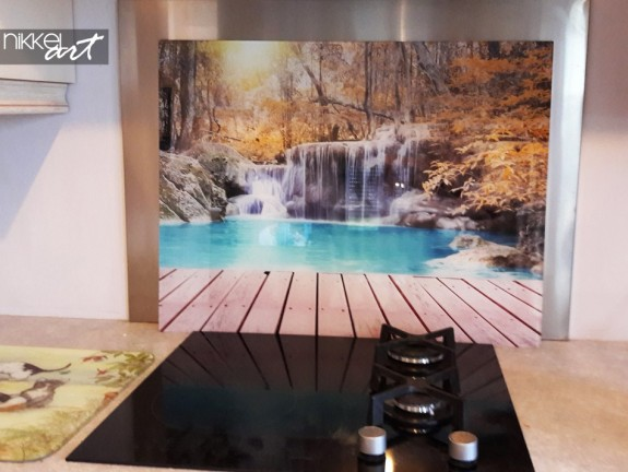 Printed kitchen splashbacks Waterfalls